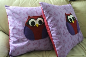 Pillows for my nieces!